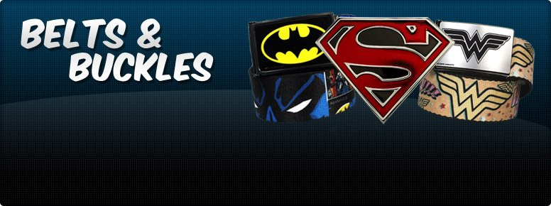 Superhero Belts and Buckles Banner