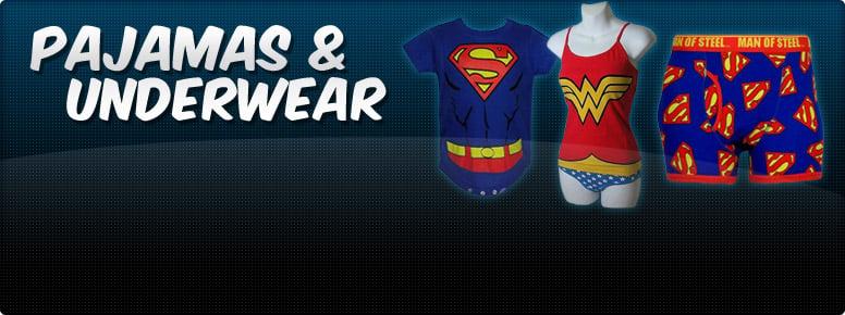 Superhero PJs & Underwear Banner
