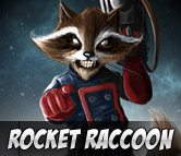 Top Left Rocket Raccoon