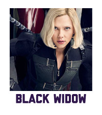 Black Widow Sale Merchandise