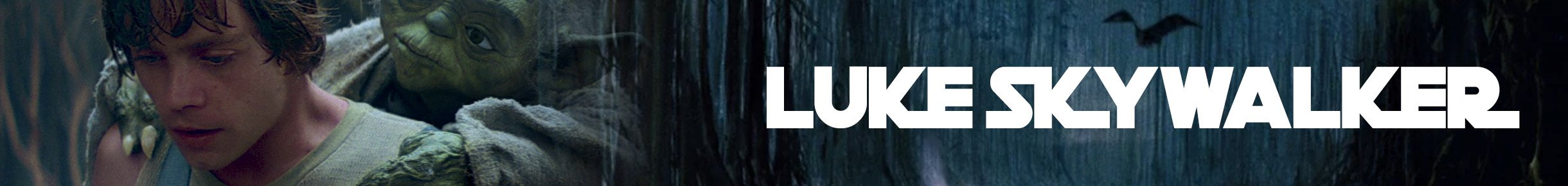 Luke Skywalker Merchandise Banner