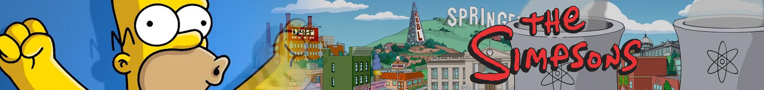 The Simpsons Merchandise Banner