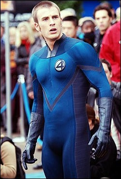 Chris Evans (The Human Torch in Fantastic Four) Plays Role Of Captain America
